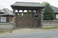 Wooden portal Royalty Free Stock Photos