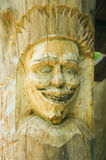 Wooden portrait of a man Stock Image