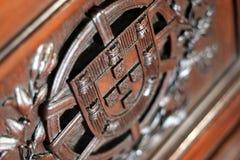 Wooden Portuguese Shield Stock Photos