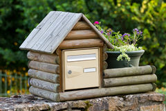 Wooden post box Stock Photos