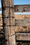Wooden Post on Farm royalty free stock image