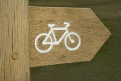 Cycling sign Royalty Free Stock Image