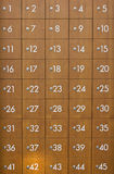 Wooden Postboxes Locker. Wooden Postboxes Locker With Number Royalty Free Stock Photos