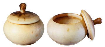Wooden pot, Royalty Free Stock Image