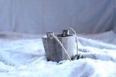 Wooden pot Stock Photo
