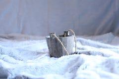Wooden pot Stock Photos