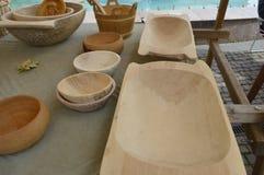 Wooden pots . Stock Image