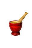 Wooden pounder and pestle Royalty Free Stock Images