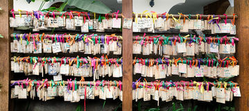Wooden prayer tablets. At Mae hong sont  province thailand Stock Images