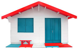Wooden prefabricated house Stock Photo