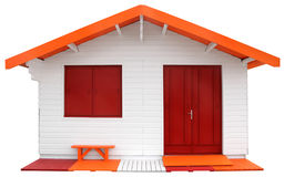 Wooden prefabricated house Stock Photography