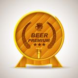 Wooden Premium Beer Barrel Royalty Free Stock Photos