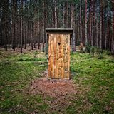Wooden privy Stock Image