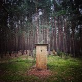 Wooden privy Royalty Free Stock Image