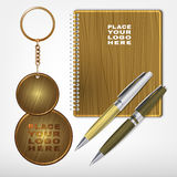 Wooden Promo Set 05 A Stock Photography