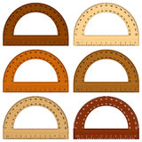 Wooden protractor Stock Image