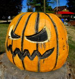 Wooden Pumpkin Royalty Free Stock Photography