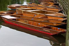 Wooden punts Royalty Free Stock Images