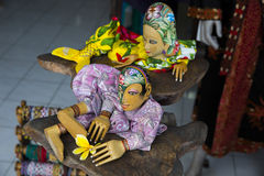 Wooden Pupets show from Indonesia bali island Stock Image