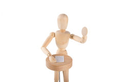 Puppet giving speech at podium Stock Images