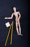Wooden puppet for learning to draw Royalty Free Stock Photo