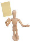 Wooden Puppet Protest Posing Stock Photography