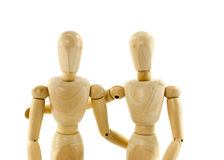 Two puppet from wood couple Royalty Free Stock Image