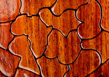 Wooden puzels. Brown wooden puzels as background Royalty Free Stock Images