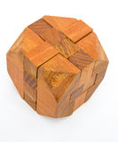 Wooden puzzle. Stock Photo
