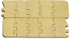 Wooden puzzle. Stock Photos