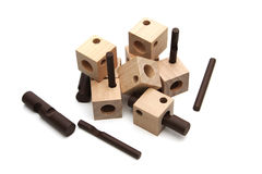 Wooden puzzle Stock Image