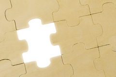 Wooden puzzle Royalty Free Stock Photos