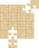 Wooden puzzle. Pattern (removable pieces). Vector illustration Stock Photography