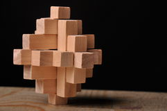 Wooden puzzle royalty free stock photo