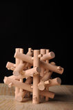 Wooden puzzle. Wooden 3-d Puzzle for children or adults Royalty Free Stock Photography