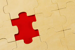Wooden puzzle background Stock Images