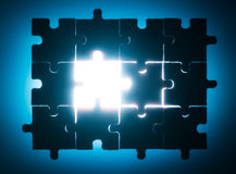 Wooden puzzle and backlight background Stock Photo