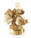 Wooden puzzle block game Stock Photo