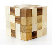 Wooden puzzle block game Stock Photos