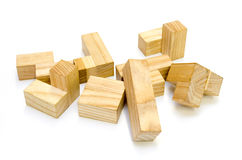 Wooden puzzle Stock Photos