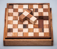 Wooden puzzle Royalty Free Stock Photography