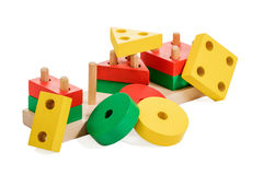 Wooden puzzle game for kids Stock Image