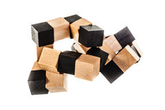 Wooden puzzle Stock Images