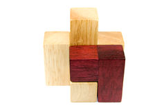 Wooden puzzle items Stock Photo