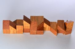 Wooden puzzle parts Stock Photography