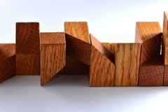 Wooden puzzle parts Royalty Free Stock Images