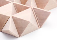 Wooden Puzzle Pattern. Pattern created by pulled apart wooden puzzle Royalty Free Stock Photos