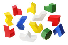 Wooden Puzzle Pieces Royalty Free Stock Photos