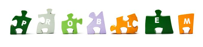 Wooden puzzle sign Stock Image