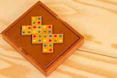 Wooden puzzle on the table Royalty Free Stock Images